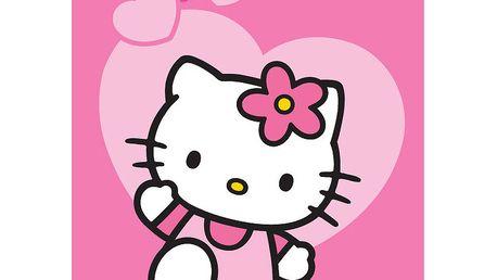 Úžasný a kvalitní dětský koberec Hello Kitty Love 95x133 cm