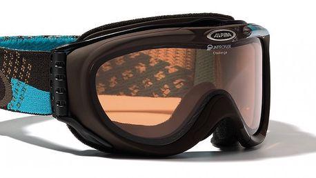 Pohodlné lyžařské brýle Alpina Challenge brown turkis