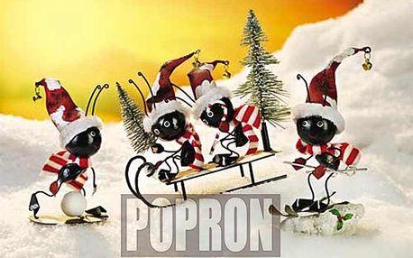 """Úžasná vánoční dekorace Mravenci """"Zimní přátelé"""""""