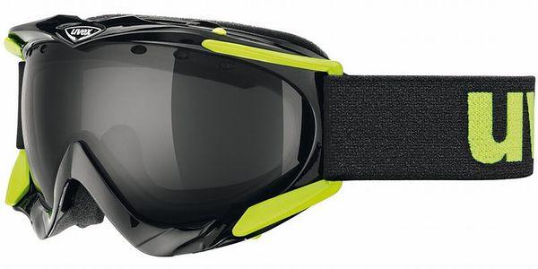 Atraktivní pánské lyžařské brýle Uvex Apache Black Shiny DL Smoke