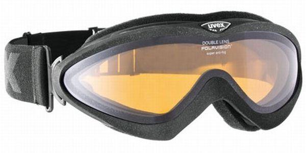 Lyžařské brýle Uvex Corus Pola black mat dl/polavision s dvojitým polarizovaným sklem