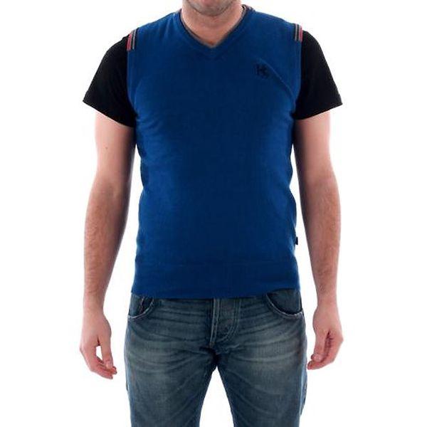 Pánská sytě modrá vesta Hammersmith