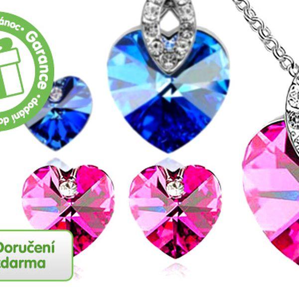 Set šperků se Swarovski Elements – 4 barvy