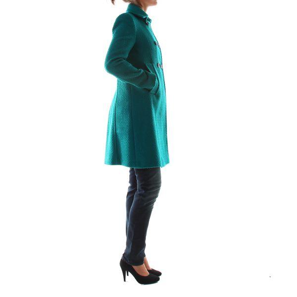 Smaragdově zelený dámský kabát Made in Italia - skladem / vel. 42