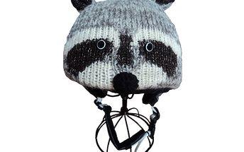 Originální potah na lyžařské helmy - Mýval