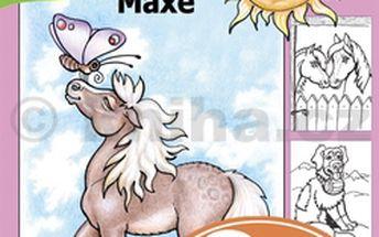 Omalovánky koníka Maxe - omalovánky, spojovačky, různé úkoly, hravé učení