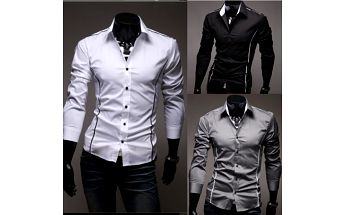 Pánská slim fit košile - 3 barvy a poštovné ZDARMA! - 35606515