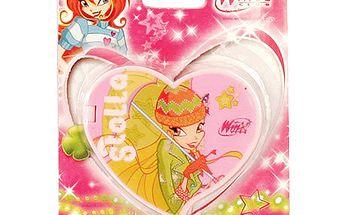 Zrcátko cestovní Winx Club Zrcátko cestovní srdce Stella světle růžová