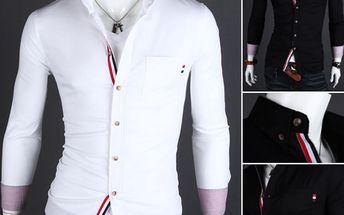 Pánská košile s barevným lemem - 2 barvy a poštovné ZDARMA! - 35606513