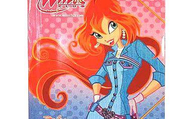 Desky s gumičkou Winx Club Desky 25x35 s gumičkou Bloom jeansové šaty růžová
