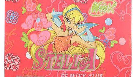 Stylová podložka pod myš s motivem víly Stella z kolekce Winx Club, barva červená.