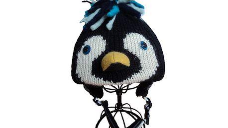 Parádní potah na lyžařské helmy - Tučňák