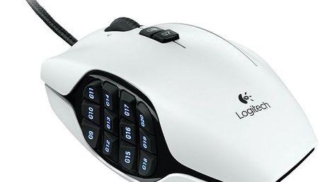 Laserová herní myš Logitech G600 s 20 tlačítky a 8200dpi. Logitech G600 MMO Gaming Mouse.