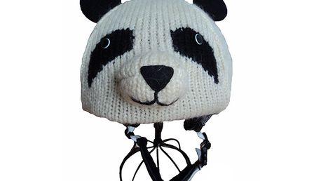 Potah na lyžařské helmy - Panda od Knitwits