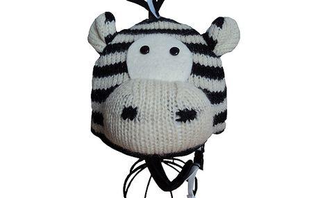 Parádní potah na lyžařské helmy - Zebra - buďte vidět!