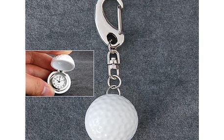 Originální hodinky na přívěsku ve tvaru golfového míčku a poštovné ZDARMA! - 35606531
