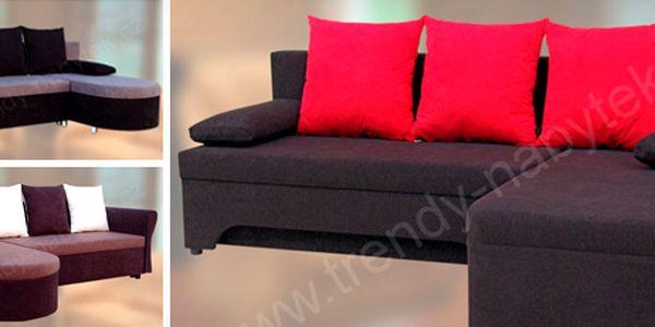 Rohová rozkládací sedačka s polštářky: 3 typy a mnoho barev!