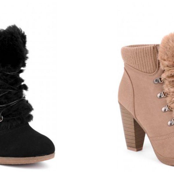 Dámské zateplené boty na podpatku