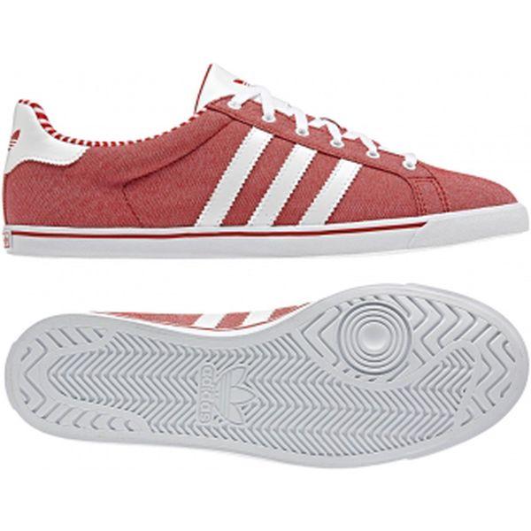 Dámská lifestylová obuv - Adidas COURT STAR SLIM W červená