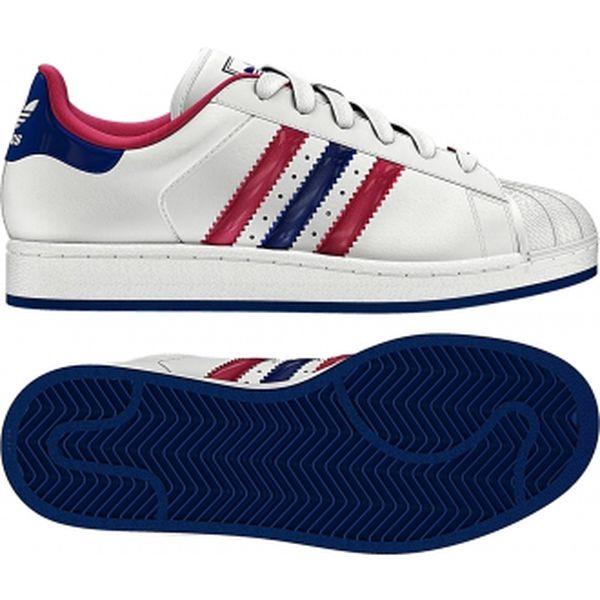 Dámská lifestylová obuv - Adidas SUPERSTAR 2 W bílá/růžová/modrá