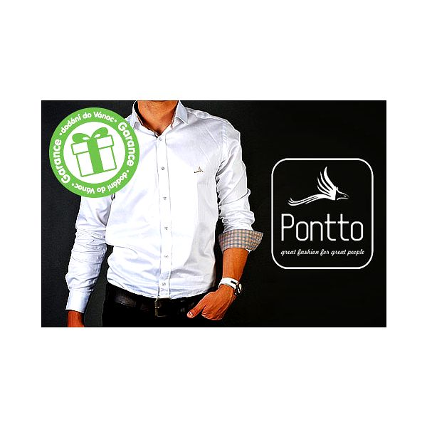 Elegantní košile Pontto s dlouhým rukávem
