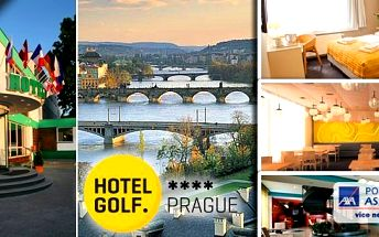 10 wellness procedur v Hotelu GOLF **** Praha - relax pobyt pro 2 osoby na 3 dny v jednom z nejkrásnějších měst Evropy. Nechte se hýčkat pod rukama profesionálních masérů a večer si u nás můžete pochutnat na specialitách našeho šéfkuchaře!!!