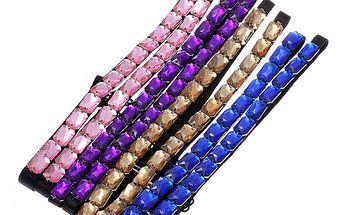 Dekorativní ramínka na podprsenku s barevnými kamínky - 4 barvy a poštovné ZDARMA! - 36202543