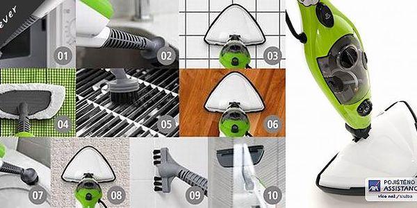Nejlepší pomocník pro kvalitní úklid. Parní mop pomocí silného proudu páry snadno a spolehlivě odstraní veškerou špínu. Nebudete potřebovat žádné saponáty, úklid s mopem 10v1 je maximálně šetrný k Vašemu domovu.