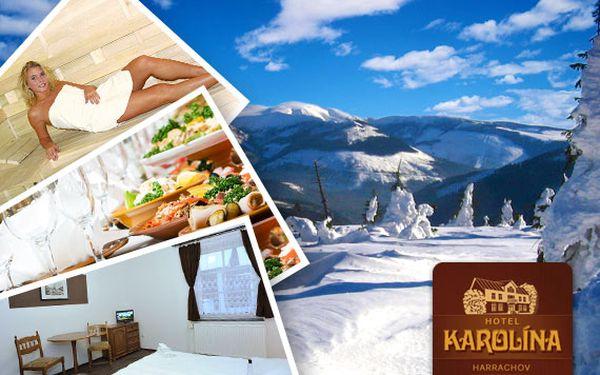 Krkonoše, Harrachov – lyžování s polopenzí a relaxem ve wellness