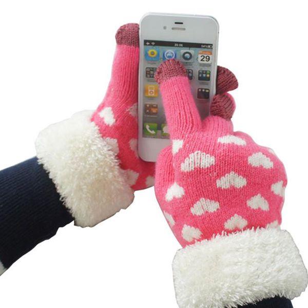 Dámské rukavičky s kožíškem pro dotykový telefon a poštovné ZDARMA! - 35806563