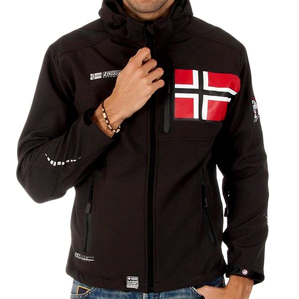Pánská softshellová hnědá bunda Geographical Norway