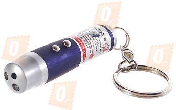 Klíčenka s LED světlem, laserem a UV světlem a poštovné ZDARMA! - 36006599