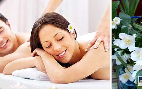 Celotělová partnerská 45 minutová jasmínová masáž pro 2 osoby + 10 minutový relax s jasmínovým čajem. Tuto párovou masáž si užijete na vyhřívaných lehátkách, které účinky masáže ještě umocní. To vše v Salonu Sen v centru Prahy!