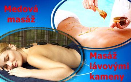 Masáž lávovými kameny nebo medovou detoxikační masáž ve studiu V.I.P. Relax