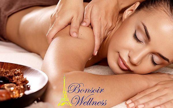 4x 60minutová celotělová masáž v Bonsoir wellness v Praze
