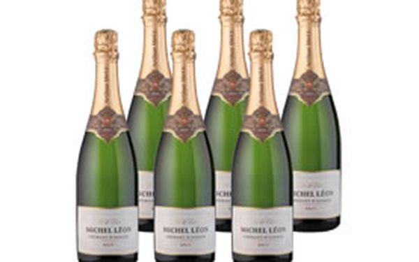 6 lahví výborného francouzského sektu