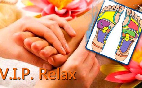 Pedikúra + reflexní terapii plosky nohou v salonu V.I.P. Relax v Plzni na Doubravce.