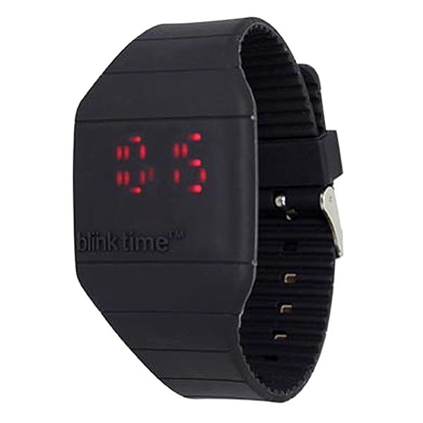 Moderní silikonové hodinky Blink Time!, černé