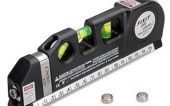 Laserová vodováha se svinovacím metrem a poštovné ZDARMA! - 36206615