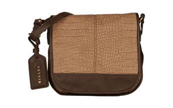 Hnědá dámská taška přes rameno Sisley
