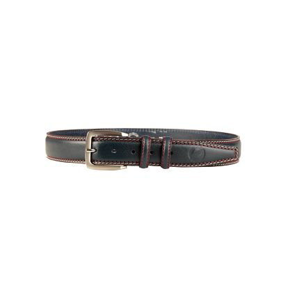 Tmavomodrý kožený pánský pásek Sparco