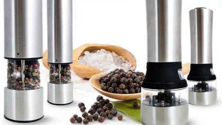 Luxusní elektrický mlýnek na sůl nebo na pepř se slevou 54%! Nepostradatelný pomocník ve vaší kuchyni již od 229 kč včetně poštovného! Zvolte si ze dvou variant a užijte si chuť čerstvě namletých dochucovadel!