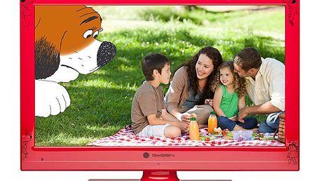 Televize Gogen MAXI TELKA 24 W, LED, v červené barvě s úhlopříčkou 61 cm