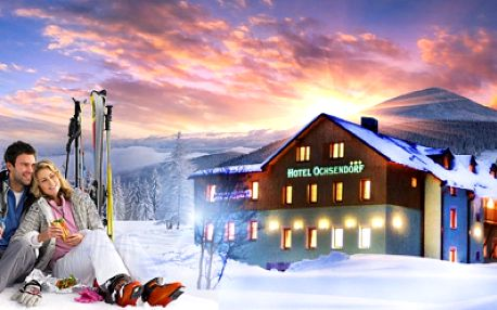 LYŽOVAČKA V KRUŠNÝCH HORÁCH v luxusním hotelu Ochsendorf***+ již od 1990 Kč pro DVĚ osoby na TŘI dny včetně POLOPENZE a vstupu do WELLNESS! Vouchery platné do června 2014! Nadělte pod stromeček relax na horách! Sleva 51%!