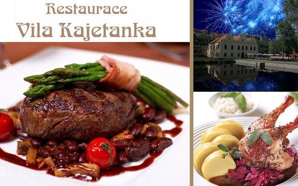 Silvestrovske menu pro dva Vila Kajetánka