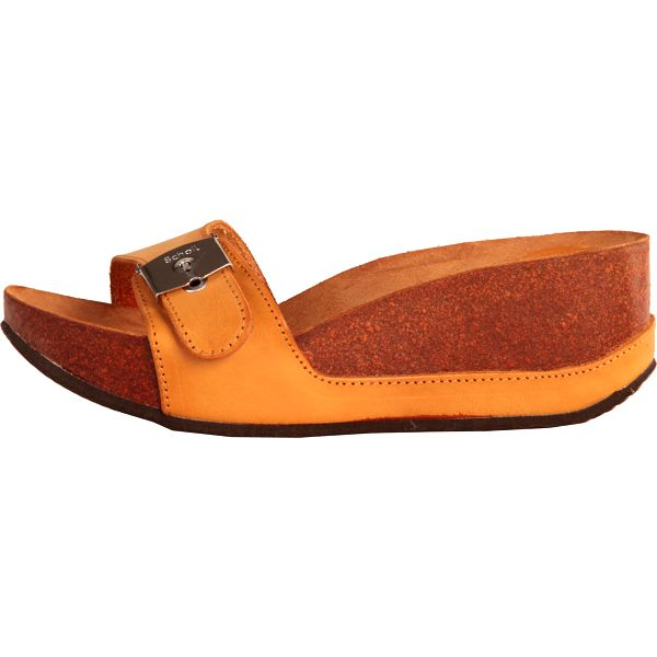 Oranžovo-hnědé dámské sandály Dr.Scholl Musal na klínku