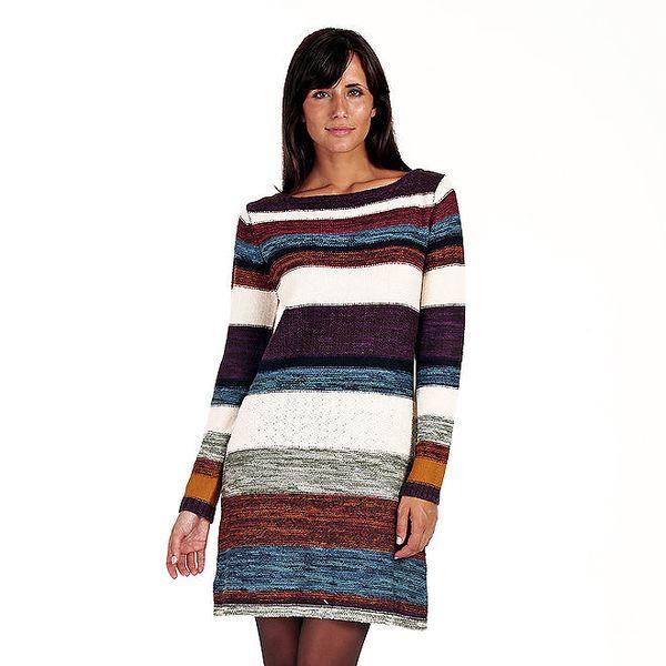 Dámské pruhované barevné úpletové šaty Peace&Love