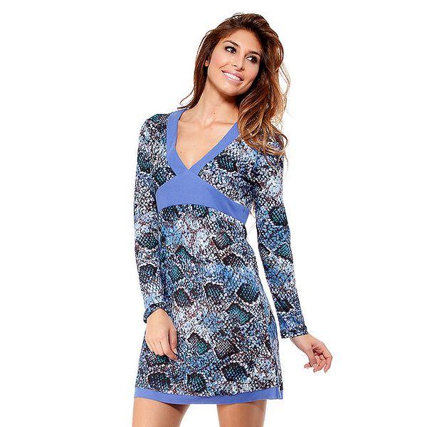 Dámské šaty s modrými lemy Peace&Love