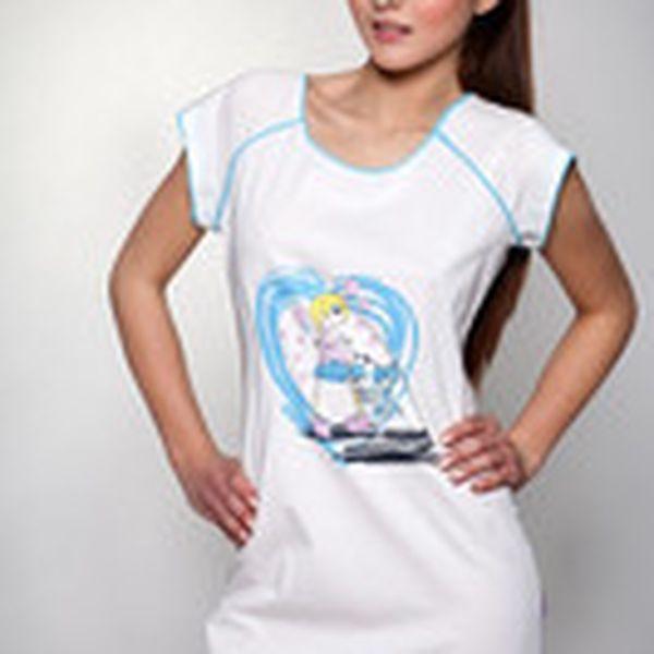 Nádherná bavlněná noční košilka Azzurro značky Victoriy