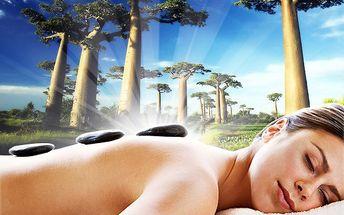 Relaxační balíček-baobab, masáž indická+láv.kameny